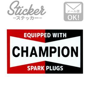 ステッカー/シール CHAMPION BIG SPARK PLUGS MS110 チャンピオン ステッカー シール カスタマイズ オリジナル バイク 車 ガソリン アメリカン|wappenstore
