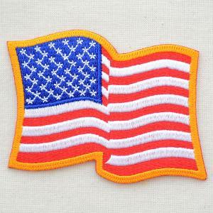 ワッペン USA アメリカ国旗/星条旗(フラッタリング)|wappenstore