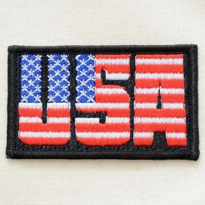 ワッペン USA(アメリカ国旗・星条旗柄/ブラック)|wappenstore