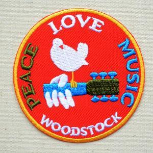 音楽ワッペン WOODSTOCK 名前 作り方 MTW-170|wappenstore