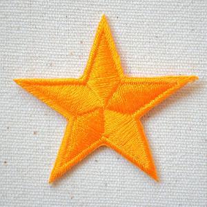 ワッペン 星/スター Star(オレンジ) 名前 作り方 MTW-300|wappenstore