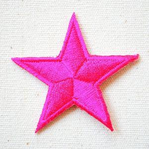 ワッペン 星/スター Star(ピンク) 名前 作り方 MTW-301|wappenstore