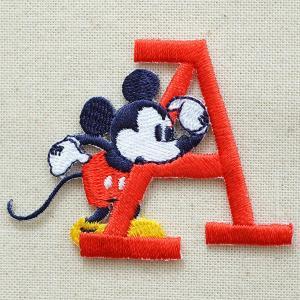 アルファベットワッペン ディズニー ミッキーマウス(A/レッド) MY4001-MY306|wappenstore