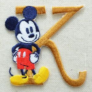 アルファベットワッペン ディズニー ミッキーマウス(K/イエローゴールド) MY4001-MY310|wappenstore