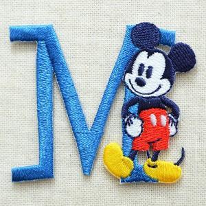アルファベットワッペン ディズニー ミッキーマウス(M/ブルー) MY4001-MY311 wappenstore