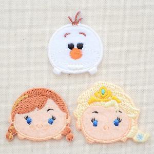 ワッペン ディズニーツムツム アナと雪の女王 オラフ・アナ・エルサ(3枚組) 名前 作り方 MY5002-MY373|wappenstore
