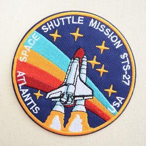 ロゴワッペン NASA ナサ(STS-027) 名前 作り方 NFC-001-027|wappenstore