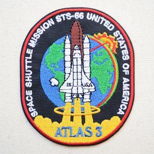 ロゴワッペン NASA ナサ(STS-066) 名前 作り方 NFC-001-066|wappenstore