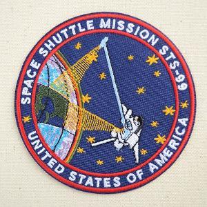 ロゴワッペン NASA ナサ(STS-099) 名前 作り方 NFC-001-099|wappenstore