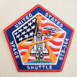 ロゴワッペン NASA ナサ(STS-104) 名前 作り方 NFC-001-104|wappenstore
