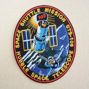 ロゴワッペン NASA ナサ(STS-109) 名前 作り方 NFC-001-109|wappenstore