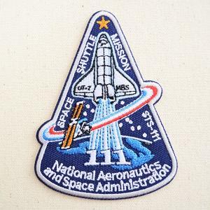 ロゴワッペン NASA ナサ(STS-111) 名前 作り方 NFC-001-111|wappenstore
