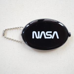 ラバーコインケース NASA/ナサ(ブラック) 小銭入れ キーホルダー アメリカ製 NOA-001-WBK|wappenstore