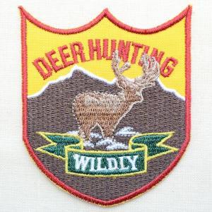 ワッペン Deer Hunting(シカ/エンブレム)|wappenstore