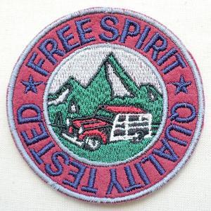 ワッペン Free Spirit(山/四駆車/ラウンド)|wappenstore