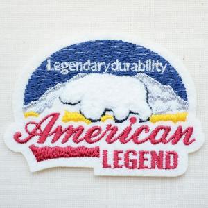 ワッペン American Legend(シロクマ/パイル刺繍)|wappenstore