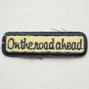 アウトレットワッペン On the road ahead レクタングル(2枚セット)|wappenstore