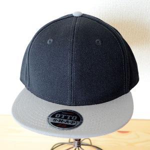 帽子/キャップ オットー Otto フラットバイザー ウールブレンド(グレー×ブラック) H0978 *メール便不可|wappenstore