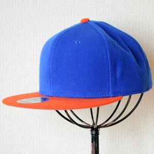 帽子/キャップ オットー Otto フラットバイザー ウールブレンド(オレンジ×ロイヤルブルー) H0978 *メール便不可|wappenstore