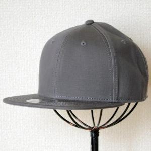 帽子/ベースボールキャップ オットー Otto フラットバイザー コットンツイル(チャコールグレー) H1038 *メール便不可|wappenstore