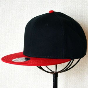 帽子/キャップ オットー Otto フラットバイザー コットンツイル(レッド×ブラック) H1038 *メール便不可|wappenstore