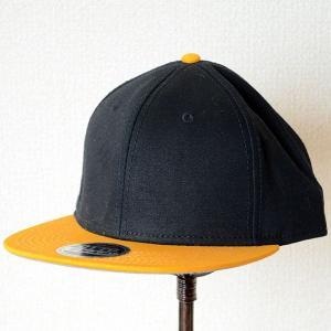 帽子/キャップ オットー Otto フラットバイザー コットンツイル(イエローゴールド×ブラック) H1038 *メール便不可|wappenstore