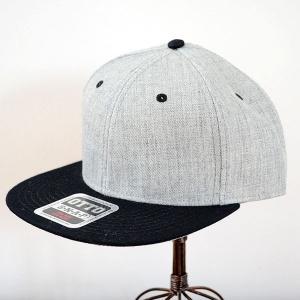 帽子/キャップ オットー Otto フラットバイザー ヘザーウールブレンド(ブラック×ヘザーグレー) H1054 *メール便不可|wappenstore