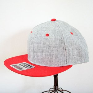 帽子/キャップ オットー Otto フラットバイザー ヘザーウールブレンド(レッド×ヘザーグレー) *メール便不可|wappenstore