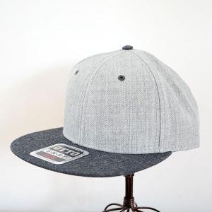帽子/キャップ オットー Otto フラットバイザー ヘザーウールブレンド(ヘザーブラックー×ヘザーグレー) *メール便不可 OTTO-H1054-LH|wappenstore