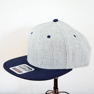 帽子/キャップ オットー Otto フラットバイザー ヘザーウールブレンド(ネイビー×ヘザーグレー) *メール便不可|wappenstore