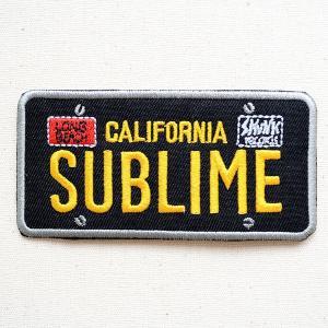 音楽ワッペン サブライム/SUBLIME(プレート) バンド ミュージック ロック 名前 作り方 P-0277|wappenstore