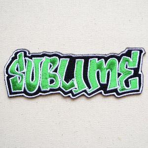 音楽ワッペン サブライム/SUBLIME バンド ミュージック ロック 名前 作り方 P-0350|wappenstore