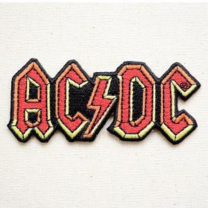 音楽ワッペン AC/DC エーシー ディーシー バンド ミュージック ロック 名前 作り方 P-0483|wappenstore