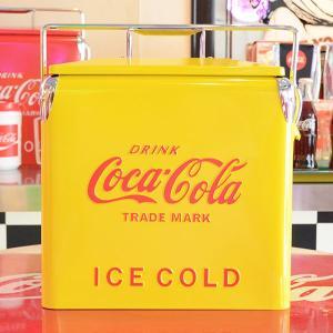 コカコーラ Coca-Cola ピクニックストレージ/クーラーボックス(イエロー) PJ-CBYL *メール便不可|wappenstore