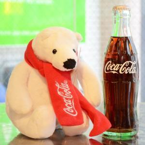 コカコーラ Coca-Cola ポーラーベアのぬいぐるみ(Sサイズ) PJ-PLB02 *メール便不可|wappenstore