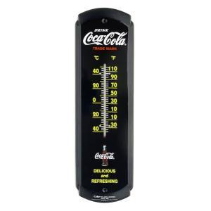 コカコーラ Coca-Cola 温度計/サーモメーター(ブラック) PJ-TM02 *メール便不可|wappenstore