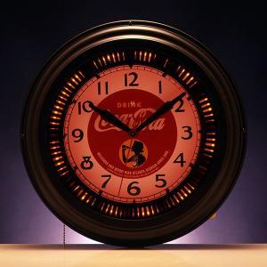 コカコーラ Coca-Cola 壁掛け時計/ラウンドネオンクロック(ガール) PJC-500G *送料無料 *代引不可 wappenstore
