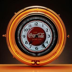 コカコーラ Coca-Cola 壁掛け時計/モーションクロック(レッドネオン) PJC-750SS *送料無料 *代引不可 wappenstore