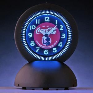 コカコーラ Coca-Cola 置き時計/スタンドネオンクロック(ガールデスク) PJC-DAR1 *送料無料 *代引不可|wappenstore