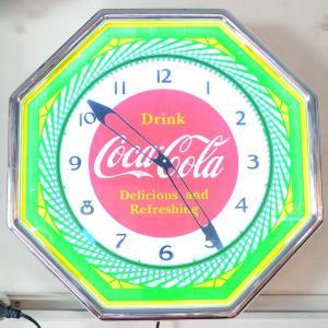コカコーラ Coca-Cola 壁掛け時計/レトロネオンクロック PJC-R03 *送料無料 *代引不可|wappenstore