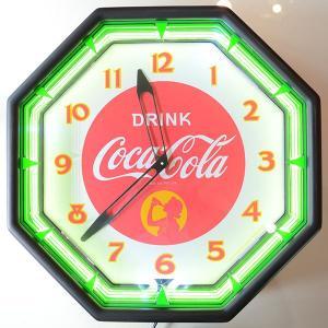 コカコーラ Coca-Cola 壁掛け時計/レトロネオンクロック PJC-R04 *送料無料 *代引不可 wappenstore