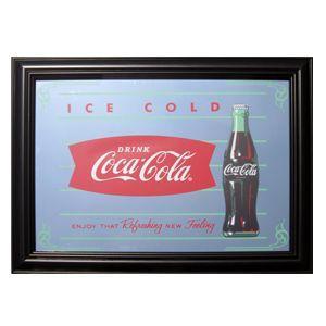 コカコーラ Coca-Cola 鏡/パブミラー(フィッシュ/36x49cm) PJP-006 *送料無料|wappenstore