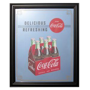 コカコーラ Coca-Cola 鏡/パブミラー(6ボトルパック/57x47cm) PJP-008 *送料無料|wappenstore