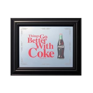 コカコーラ Coca-Cola 鏡/パブミラー(シングスゴーベター/27x32cm) PJP-012 *メール便不可|wappenstore