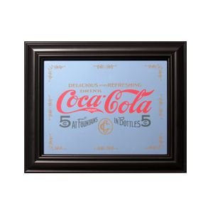 コカコーラ Coca-Cola 鏡/パブミラー(5セント/27x32cm) PJP-013 *メール便不可|wappenstore