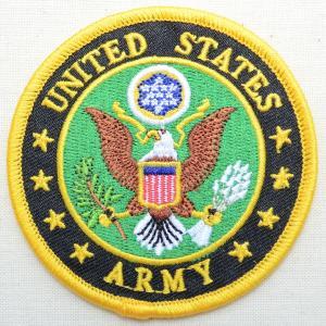 ミリタリーワッペン U.S.Army アーミー 鷲 イーグル アメリカ陸軍 ラウンド PM0003|wappenstore