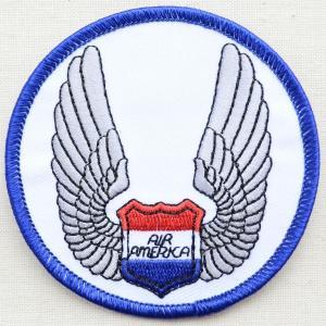 ミリタリーワッペン Air America エアーアメリカ ラウンド 米空軍 PM0032|wappenstore