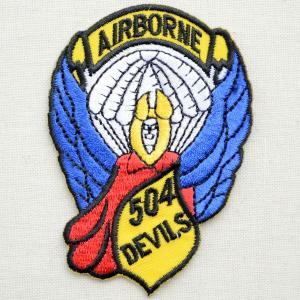 ミリタリーワッペン Airborne エアボーン 504Devils アメリカ陸軍 PM0054|wappenstore