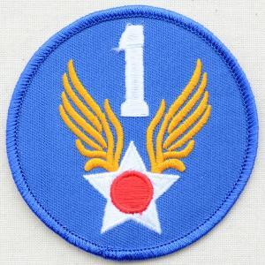 ミリタリーワッペン 1st Air Force エアフォース アメリカ空軍 ブルー PM0091|wappenstore
