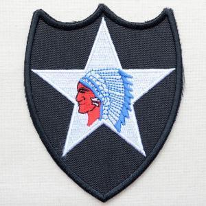 ミリタリーワッペン U.S.Army アーミー 2nd Inf Div(インディアン/スター) PM0096|wappenstore